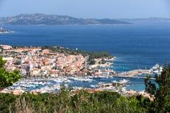 PALAU, SARDINIA/ITALY - MAY 21 : View down to Palau in Sardinia Stock Images
