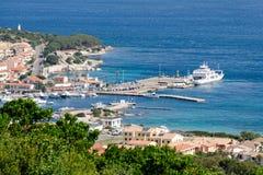 PALAU, SARDINIA/ITALY - MAY 21 : View down to Palau in Sardinia Royalty Free Stock Photos