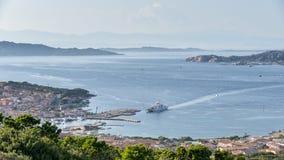 PALAU, SARDINIA/ITALY - MAY 17 : View down to Palau in Sardinia Royalty Free Stock Photos