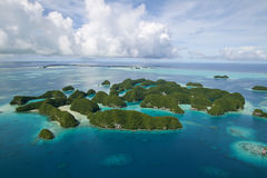 Palau top view. Top view of palau islands Royalty Free Stock Images