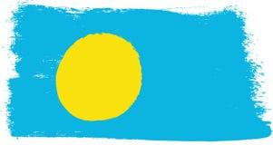 Palau Vlag VectordieHand met Rond gemaakte Borstel wordt geschilderd Royalty-vrije Stock Foto's