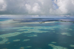 Palau white sand top view 2. Top view of white sand island Royalty Free Stock Photography