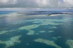Palau wit zand hoogste view1 Stock Fotografie