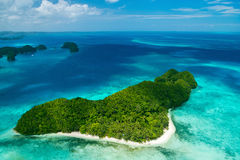 Palau wyspy od above Obraz Royalty Free