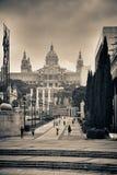 Palauisk Nacional för museum d'Art de Catalunya arkivfoto