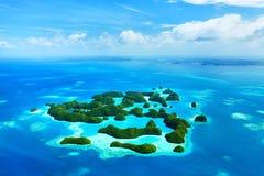 Palauiska öar från över Royaltyfri Foto