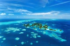 Palauiska öar från över Royaltyfria Bilder