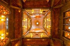 Palauiska Guell, barcelona, Spanien. Fotografering för Bildbyråer