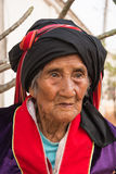 Palaung老妇人 库存照片