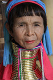 Palaung long neck woman in Myanmar. July 29, 2013 Royalty Free Stock Photos