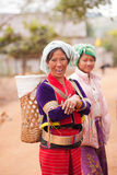 Palaung woman. CHIANGMAI,THAILAND - JANUARY 11, 2015: Unidentified Palaung woman in the Palaung traditional costume poses for the camera. Palaung people is a Royalty Free Stock Photography