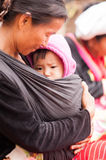 Palaung woman and child Royalty Free Stock Images