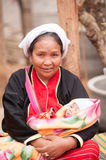 Palaung woman and child Royalty Free Stock Image