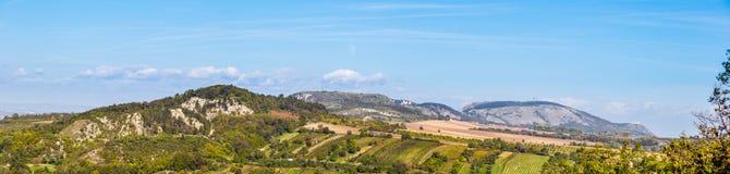 Palava hills from Holly Hill, Mikulov royalty free stock photography