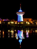 Palavas a small town in France. A night shot of Palavas a small town in France near Montpellier stock images