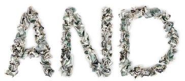 E - contas 100$ frisadas Fotografia de Stock Royalty Free