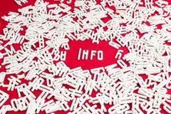 Palavra Imagem de Stock