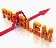A palavra alaranjada do problema significa a pergunta responder Fotografia de Stock