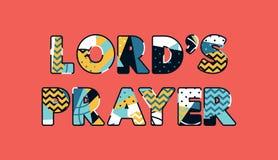 Palavra Art Illustration do conceito da oração do ` s do senhor ilustração do vetor