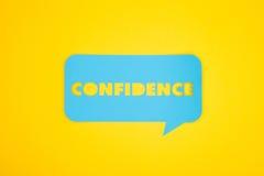 Palavra azul da bolha com confiança Imagem de Stock Royalty Free