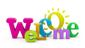 Palavra bem-vinda. Foto de Stock Royalty Free