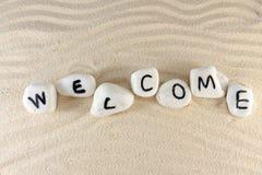 Palavra bem-vinda Imagens de Stock Royalty Free
