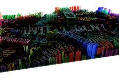 Palavra-chave de inteligente Rendição 3d colorida Dê forma à composição ilustração stock
