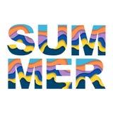 Palavra colorida do verão ilustração do vetor