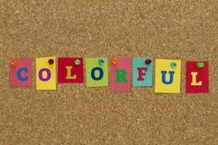 Palavra colorida escrita em notas pegajosas coloridas Imagem de Stock Royalty Free