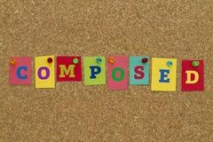Palavra composta escrita em notas pegajosas coloridas Foto de Stock Royalty Free