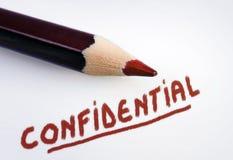 Palavra confidencial Imagem de Stock