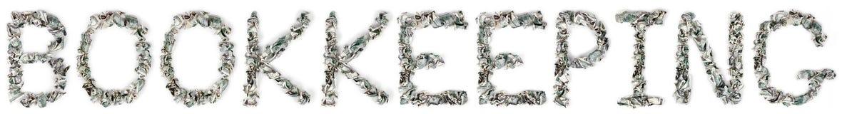 Contabilidade - contas 100$ frisadas Imagens de Stock Royalty Free