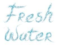 Palavra da água fresca no branco ilustração royalty free