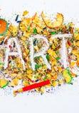 Palavra da ARTE no fundo Foto de Stock