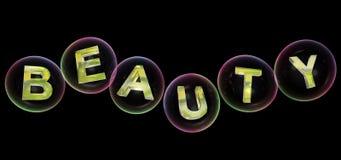 A palavra da beleza na bolha ilustração do vetor