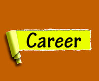 A palavra da carreira significa o Internet Job Or Employment Search Imagem de Stock