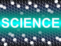 A palavra da ciência mostra o cientista Biology And Chemist Imagens de Stock Royalty Free