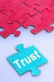 Palavra da confiança Fotografia de Stock