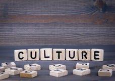 Palavra da cultura escrita no bloco de madeira fotografia de stock