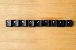 Palavra da democracia Fotografia de Stock Royalty Free