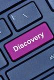 Palavra da descoberta no teclado de computador fotografia de stock