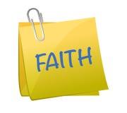 Palavra da fé na ilustração do papel da parte ilustração royalty free