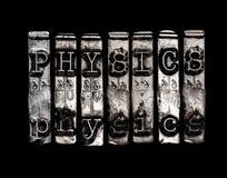 Palavra da física imagem de stock