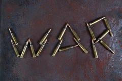 Palavra da guerra do balas Foto de Stock