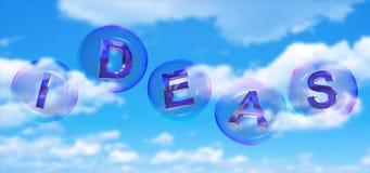 A palavra da ideia na bolha ilustração stock