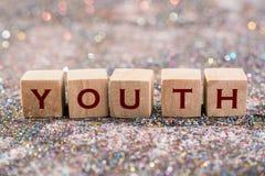 Palavra da juventude fotos de stock royalty free