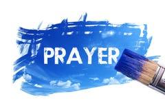 Palavra da oração da pintura ilustração royalty free