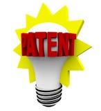 Palavra da patente na ampola ilustração do vetor
