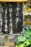 Palavra da pena da escova do chinês Foto de Stock Royalty Free