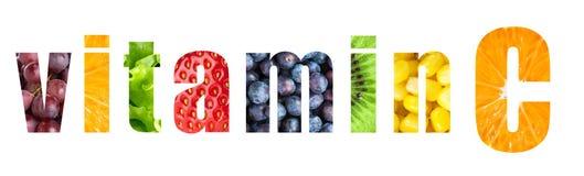 Palavra da vitamina C imagens de stock